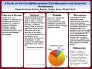 Research Methods- Daily Relaxation and Academic Achievement