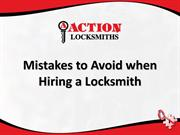 Mistakes to Avoid when Hiring a Locksmith
