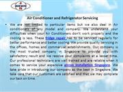 Air Conditioner and Refrigerator Servicing