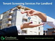 Tenant Screening Services For Landlord