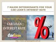 How Car Loan Interest Rate is Determined?