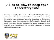7 Tips on How to Keep Your Laboratory Safe from Security Breaches