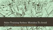 Sales Training Sydney Mistakes To Avoid