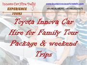 Innova Hire in Delhi, Toyota Innova Car hire service