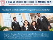 Your Search for the Best PGDM College in Hyderabad ends here