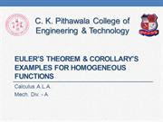 Euler's Theorem & Corollary's Examples for Homogeneous Functions