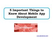 5 Important Things to Know About Mobile App Development
