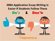 Do's And Don'ts For Writing a MBA Application Essay