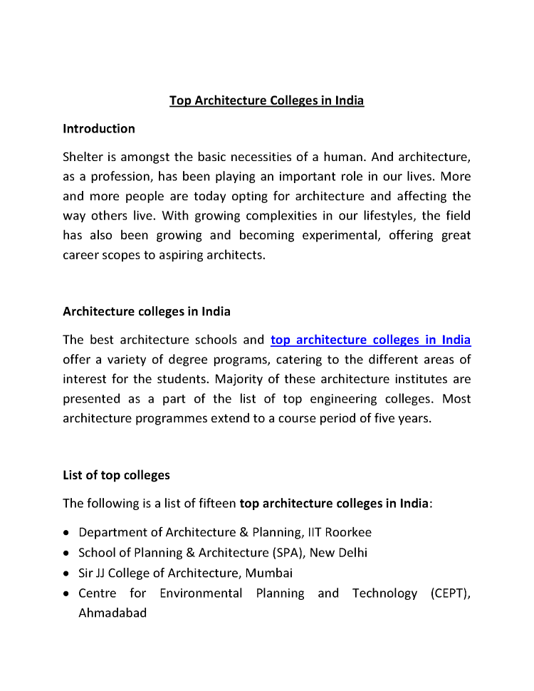 top architecture colleges in india |authorstream