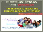GLG 101 Course Real Tradition, Real Success / snaptutorial.com