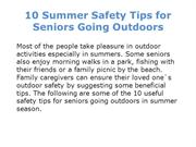 10 Summer Safety Tips for Seniors Going Outdoors