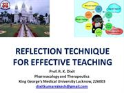 Reflection_for Effective Teaching Learning_Dr Dixit