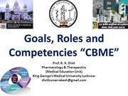 CBME Competency Based Medical Education Dr Dixit