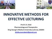 Innovative Methods for Effective Lecturing Dr Dixit