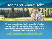 Don't Fret About Debt Debt Experts Scotland