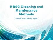 HRSG Cleaning and Maintenance Methods