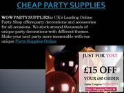 CHEAP PARTY SUPPLIES |  PARTY SUPPLIES ONLINE UK
