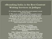 2 eBranding India is the Best Content Writing Services