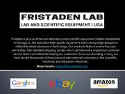 FRISTADEN SCIENTIFIC EQUIPMENT LAB EQUIPMENT LAB SUPPLY