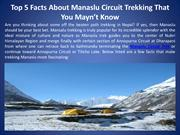 Top 5 Facts About Manaslu Circuit Trekking That You Mayn't Know
