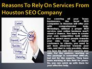 Reasons To Rely On Services From Houston SEO