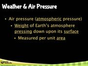 Air Pressure & Fronts