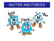 SCIENCE5_MATTER AND FORCES