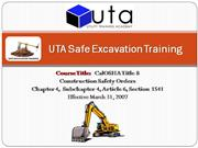 CalOSHA Title 8 Construction Safety Order