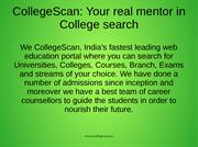 Think admissions: Think CollegeScan