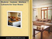 Modern Custom Kitchen Cabinets for Your House