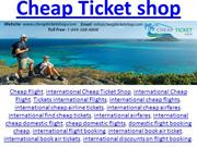 Cheap Ticket Shop | Hotel, Car and Flight Booking Site