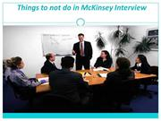 Things to not do in Mckinsey Interview