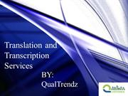 Translation and Transcription Services
