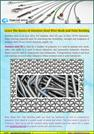 Learn the basics of Stainless Steel Wire Mesh and Tube Bending