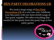 Hen Party Decorations UK  Hen Party Accessories UK  Hen Party Supplies