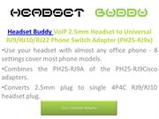 Headset Buddy | Cisco headset adapter