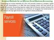 Greatest Methods for an Efficient Small Business Accounting