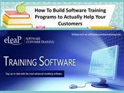 How To Build Software Training Programs to Help Your Customers