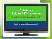 EML to PST Converter Application