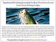 Significant fishing Essentials  - Texas Fishing Lodges