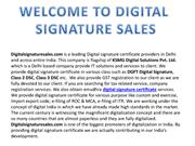 Digital Signature Provider in Delhi || Digital Signature Sales