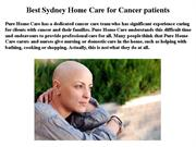Cancer Care, Pallitive care, Personal care Services.