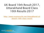 UK Board 10th Result 2017, Uttarakhand Board Class 10th Results 2017