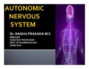 CLASS INTRODUCTION TO AUTONOMIC NERVOUS SYSTEM