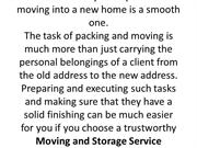 Things to look for in moving and storage