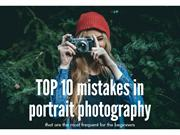 TOP 10 mistakes in portrait photography