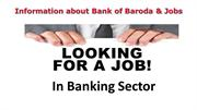 Information about Bank of Baroda & Jobs