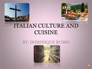 ITALIAN CULTURE AND CUISINE
