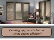 Dressing up your window and saving energy efficiently