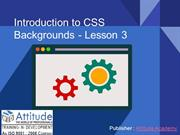 Introduction to CSS Backgrounds - Lesson 3